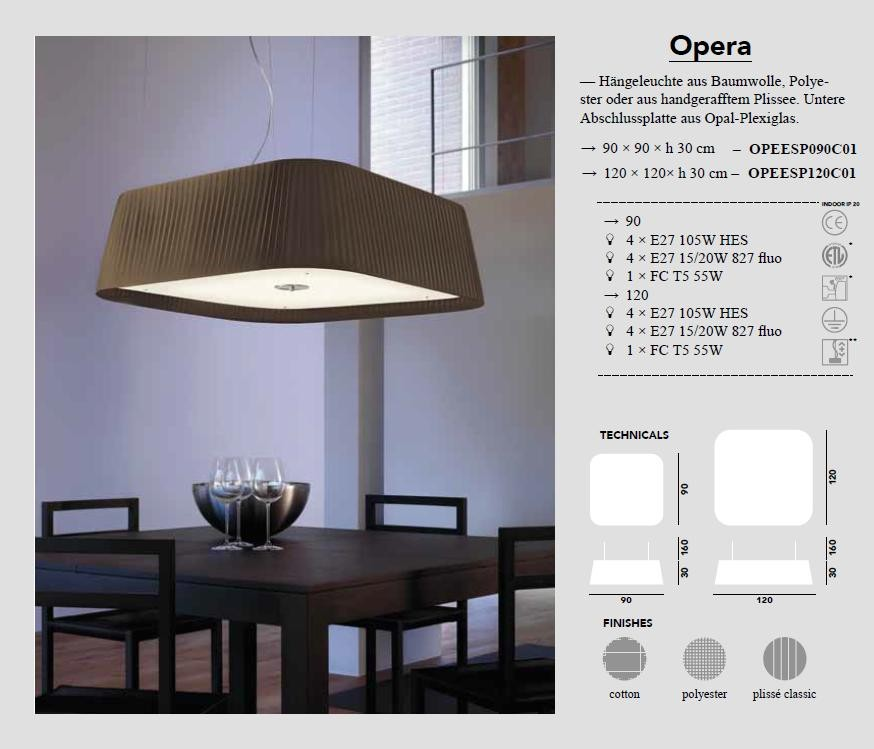Opera - Pendelleuchte von Modoluce - bei Raum-Traum-Design