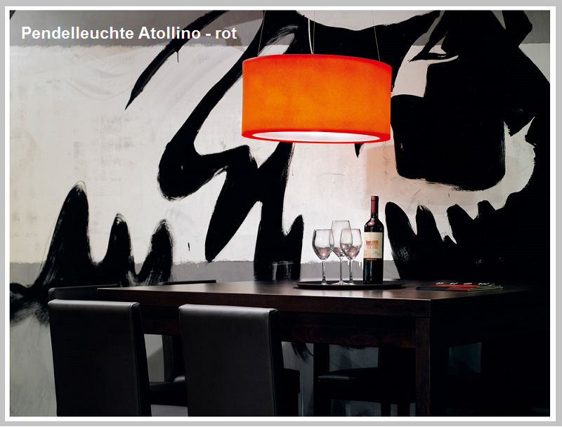 Pendlleuchte ATOLLINO-orange       -                  by Raum-Traum-Design.de