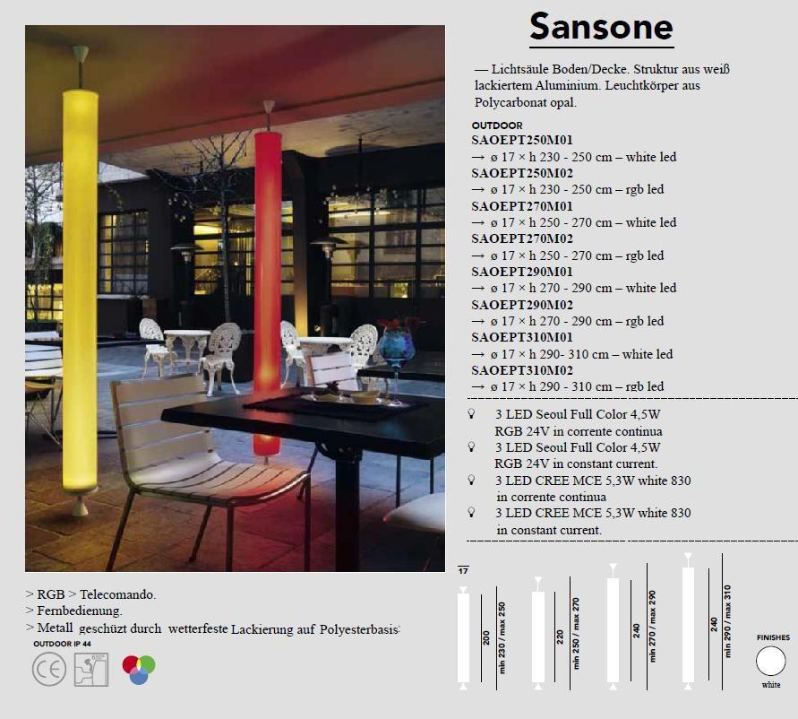 Sansone - Stehleuchte farbig von Modoluce - bei Raum-Traum-