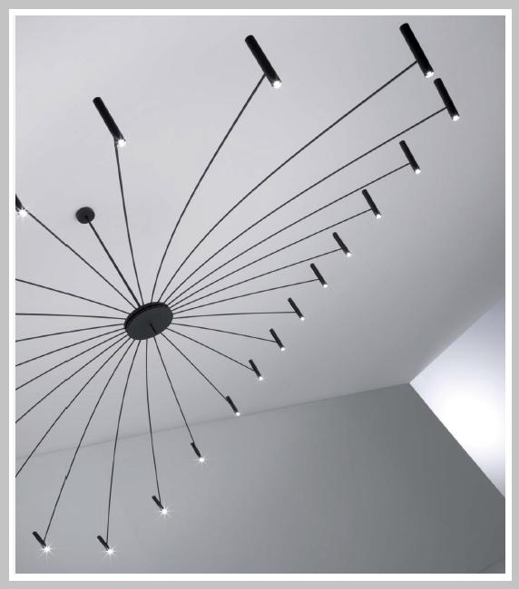 LED - Pendelleuchter Chandelier - oval 400x240 cm, 24 x 13,4 W