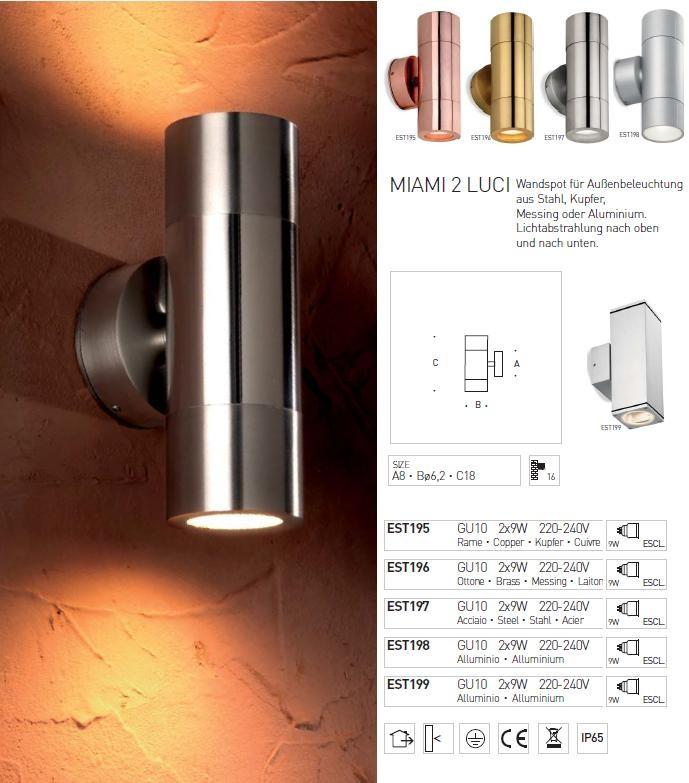 Wandleuchtenserie - MIAMI - 2 -LUCI