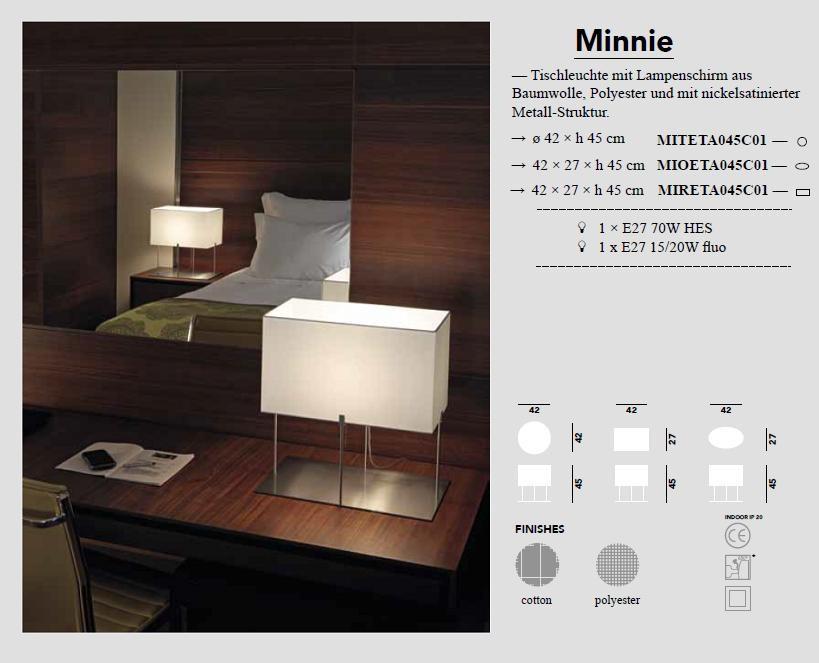 Minnie Tischleuchte rechteckig von Modoluce - bei Raum-Traum-Design
