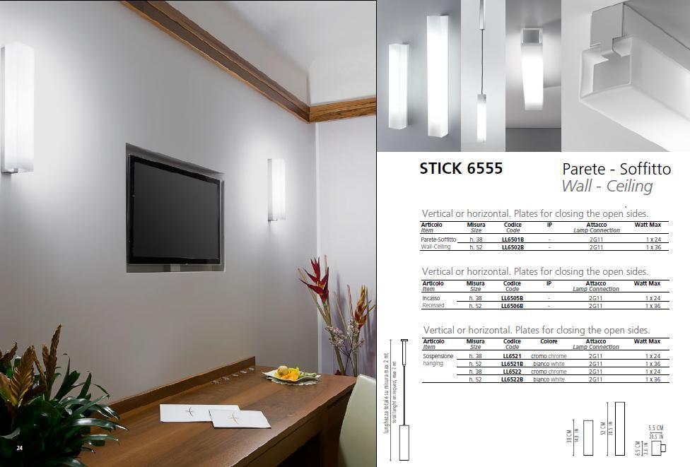 Wand- Decke- Pendelleuchte Stick 6555 - alle Versionen