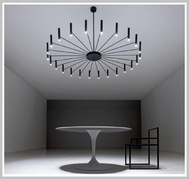LED -Pendelleuchter Chandelier - rund 180 cm Dm, 214 x 13,4 W