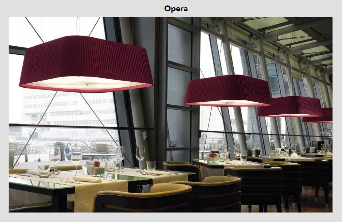 Opera - Pendelleuchte, Plissee`von Modoluce - bei Raum-Traum-Design