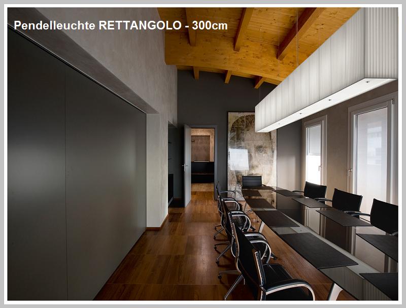 Pendelleuchte RETTANGOLO 300 cm  -           by Raum-Traum-Design.de