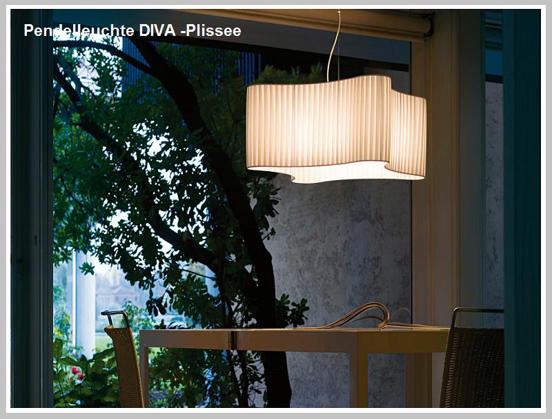 Pendelleuchte DIVA - Plissee` -                            by Raum-Traum-Desiign.de