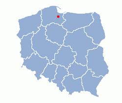 ポーランド‐マルボルクの位置