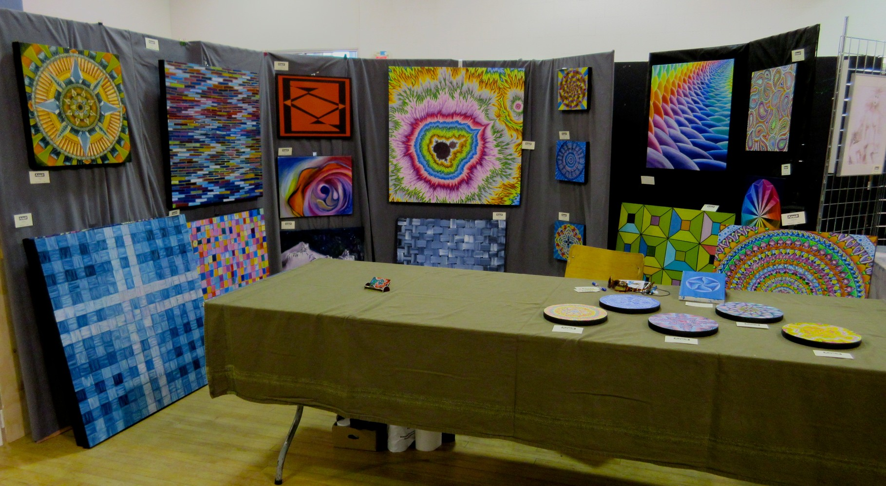 my booth at the 2014 Lake Country Artwalk