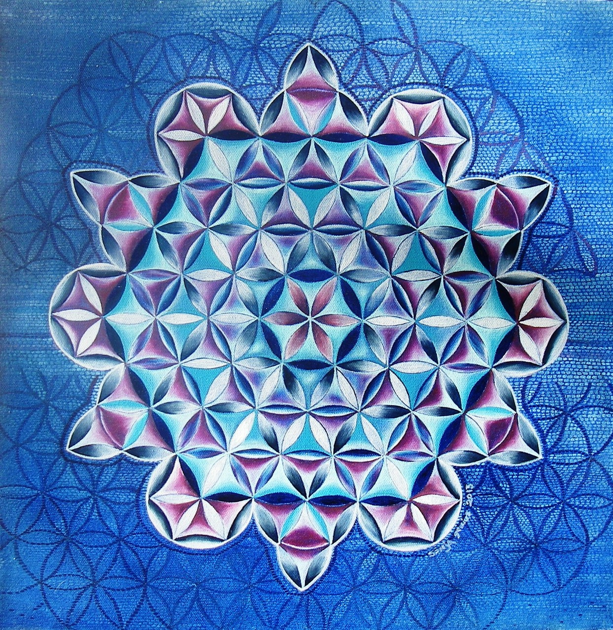 Untitled (Sacred Geometry), oil on canvas, 16x16, 2013