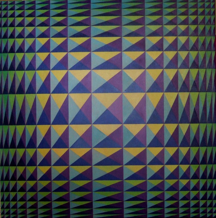 Untitled 12, oil on canvas, 30x30, May 2012 (inspired by Vasarely)