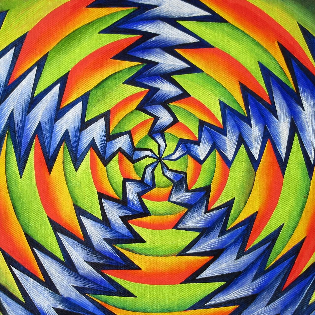 """Creation II"", oil on canvas 12x12, February 2015"