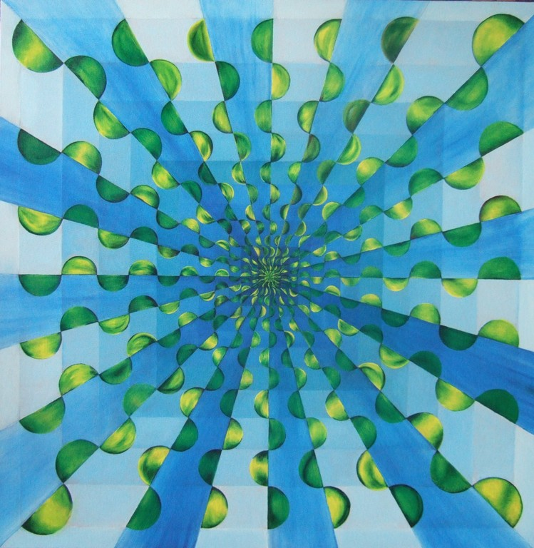 "(Squares/Rays III) ""Perspectives"", oil on canvas, 30x30, Nov.2011"