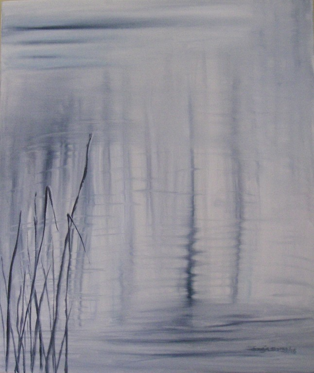 """Reflection"" oil on canvas, 24x24, 2009 - SOLD"