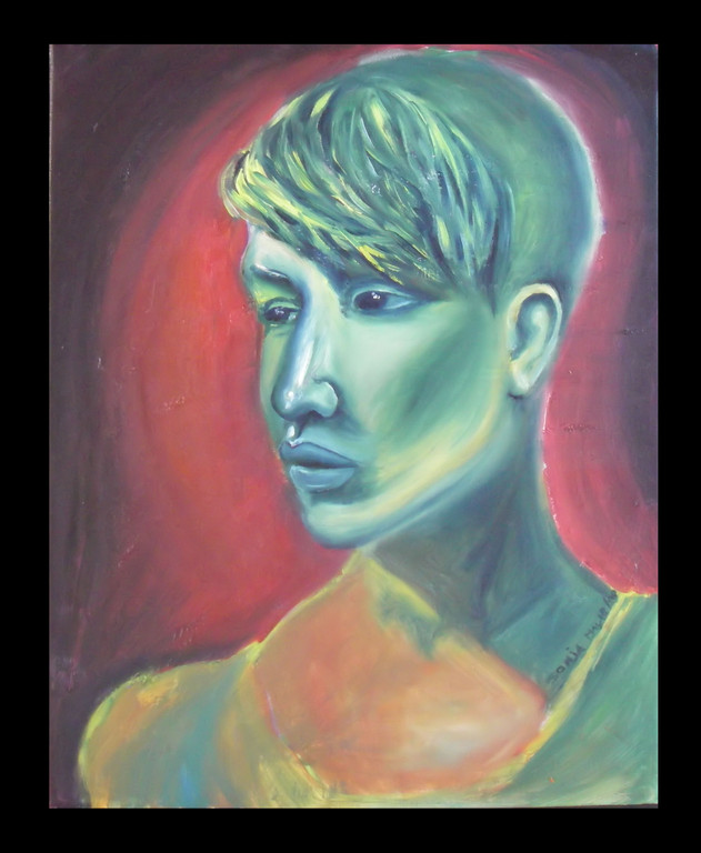 "Beautiful Sandra (live portrait), Oil on canvas, 16""x20"", 2008----NFS"