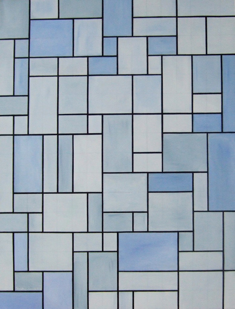 Untitled, oil on canvas, 30x40, Dec.2012 (inspired by Piet Mondrian)