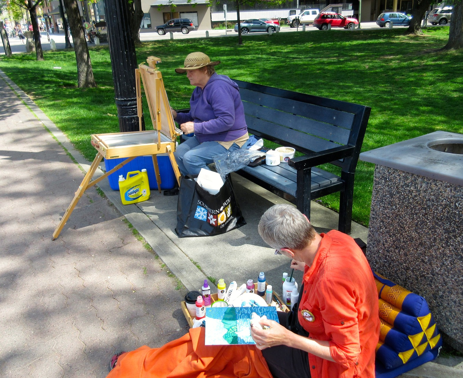 A friend and I participating at the annual OPUS painting challenge in Kelowna (2015)