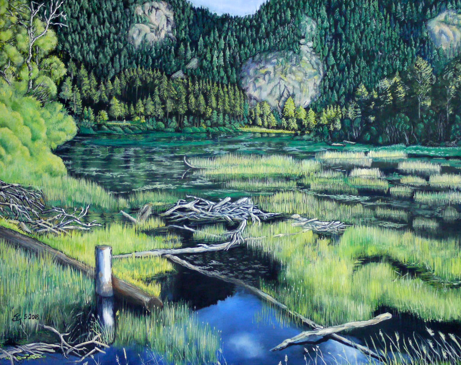 "#466 - ""Manly Meadows"" (My favorite spot) oil on canvas 16x20, 5/18 (5)"