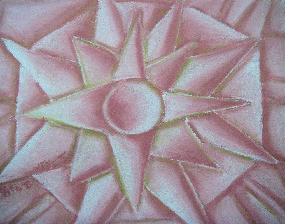 "Untitled, pastels on paper, 8 1/2""x11"", 2007"