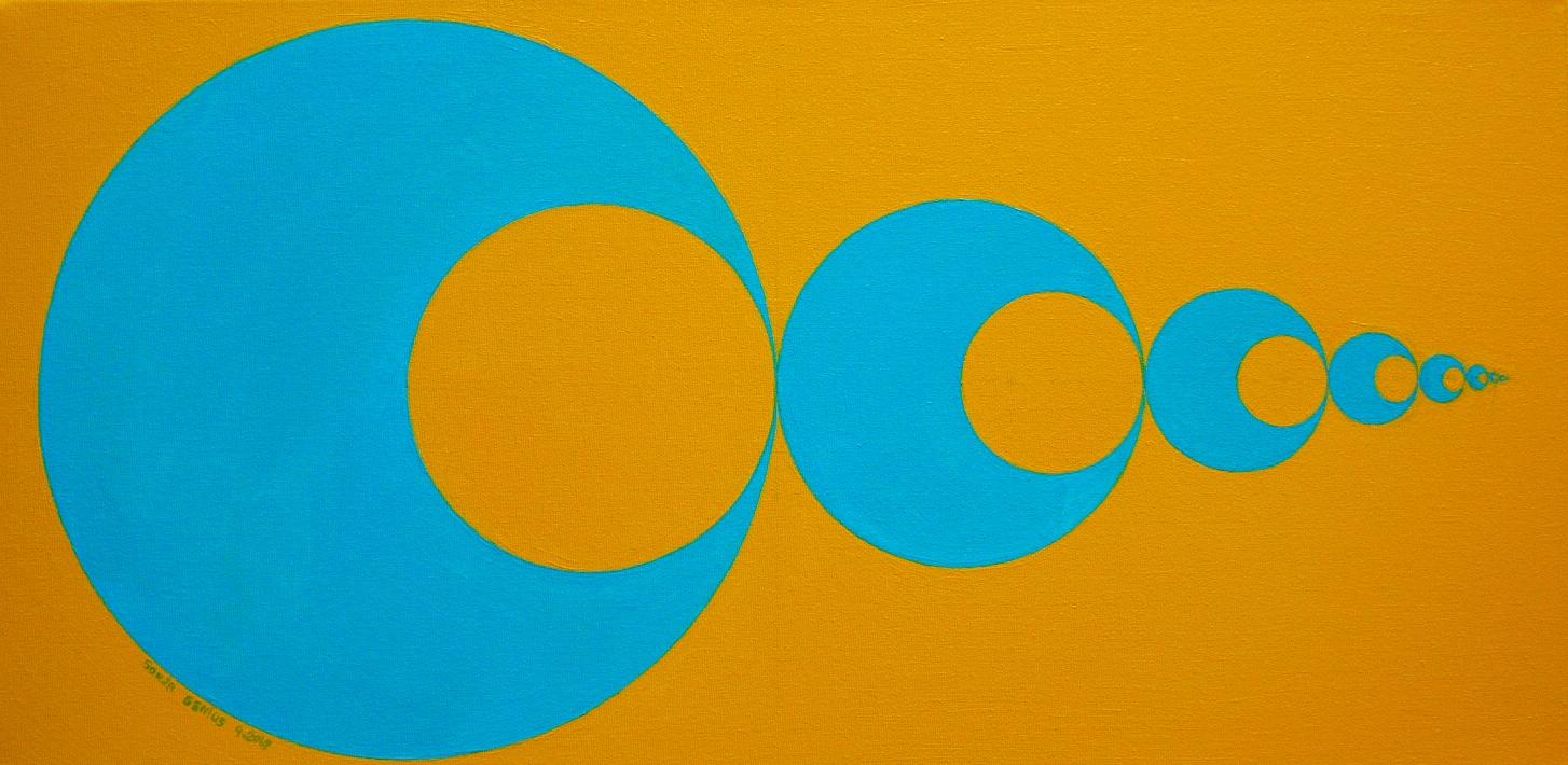 #477 - Circle inside Circle I, oil on canvas 12x24, 9/18 (1)