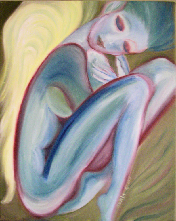 """Confinement"", oil on canvas, 16""x20"", 2007"