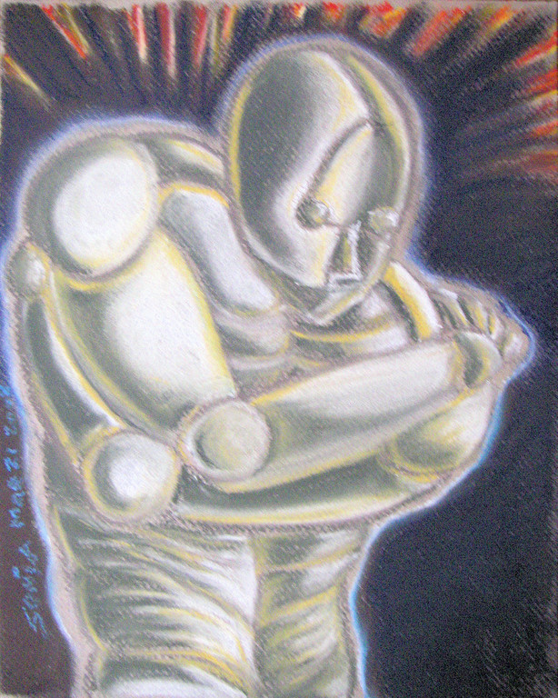 """Armor"" pastels on paper, 8 1/2""x11"", 2007"