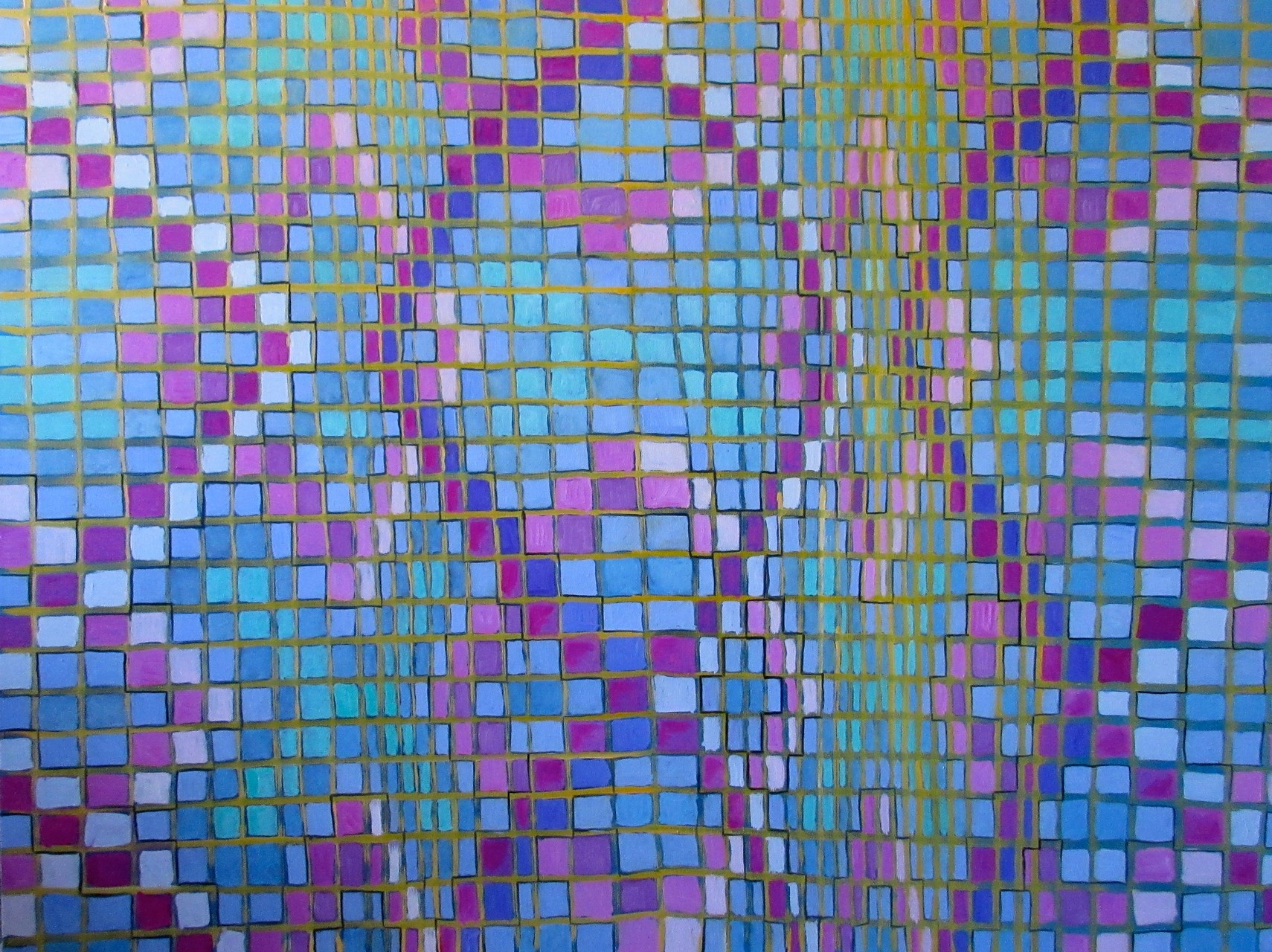"""Argyle"" (Naive Series VI) oil on canvas 30x40, July 2015"