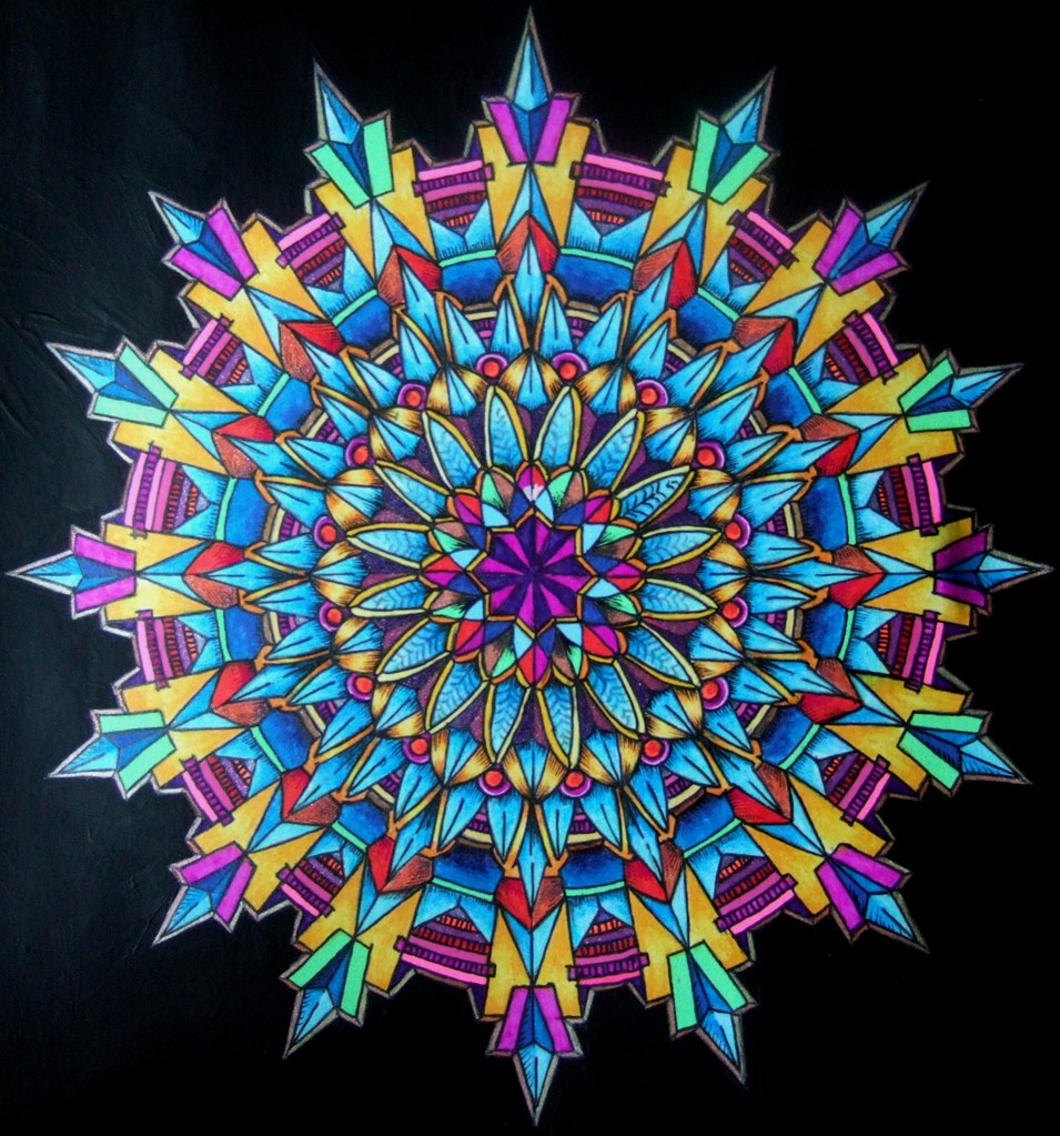 Version 2 - Kaleidoscopic Design Coloring Book by Lester Kubistal