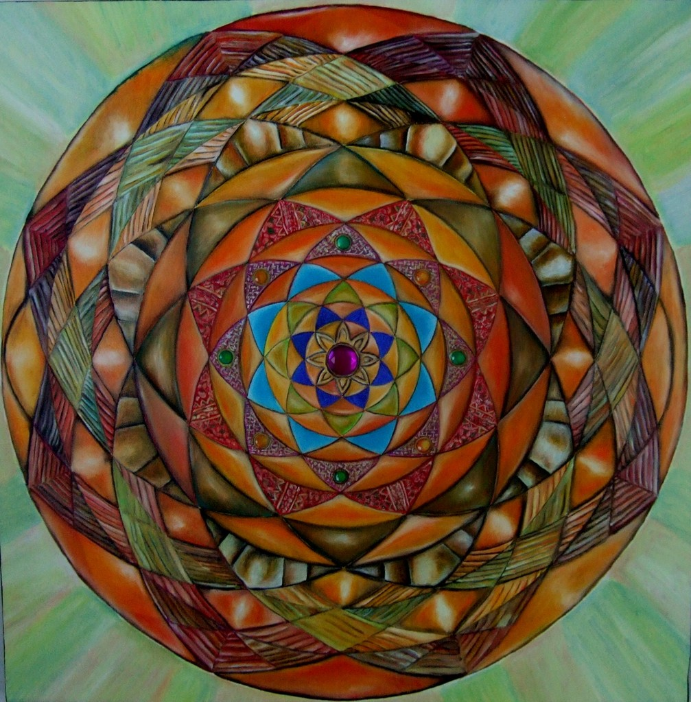 """Magic Shield"" (Ripples of Love Series) oil on canvas 24x24, 2012"