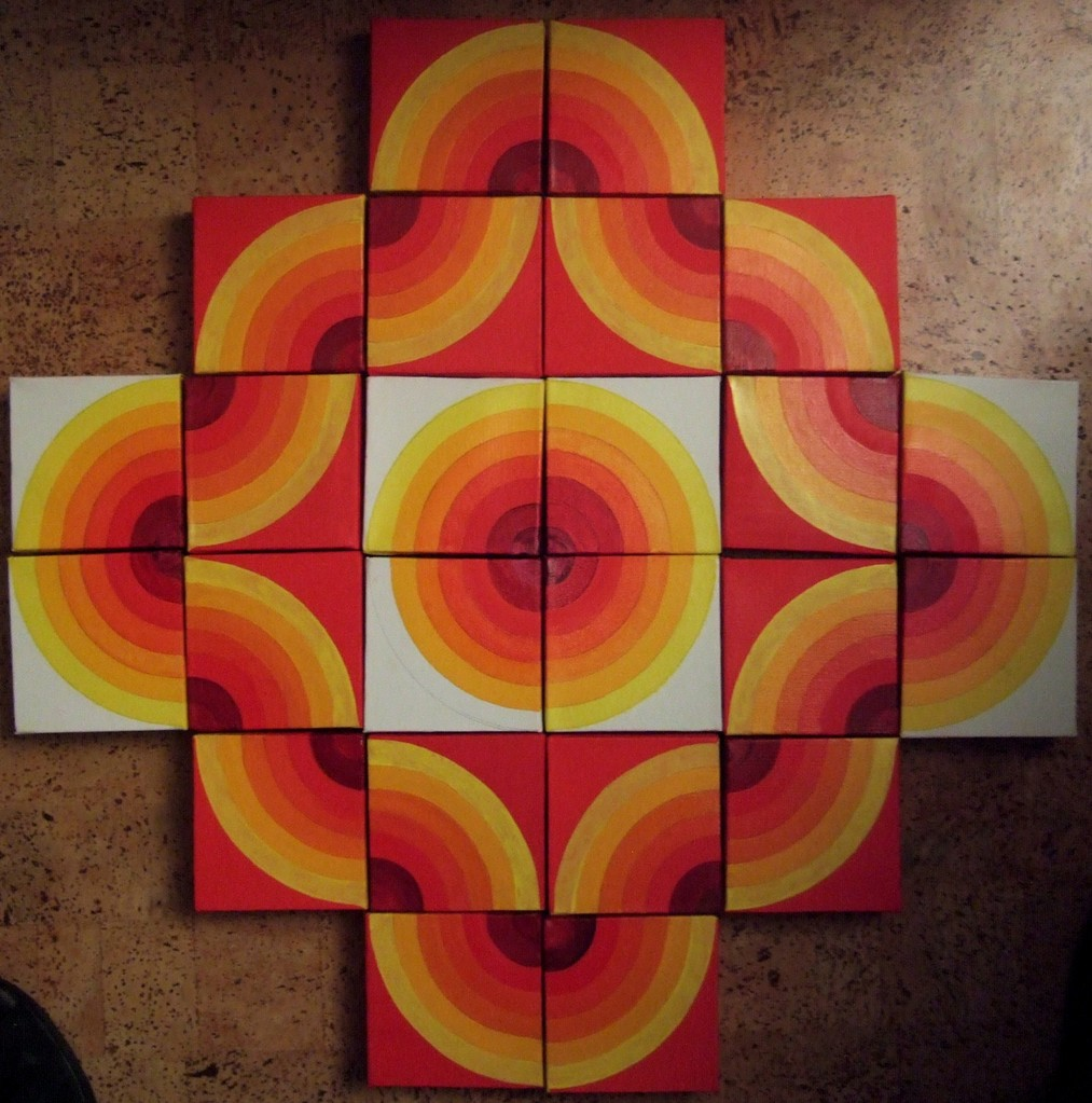 ....ongoing project - a painting puzzle, can be assembled in many different ways