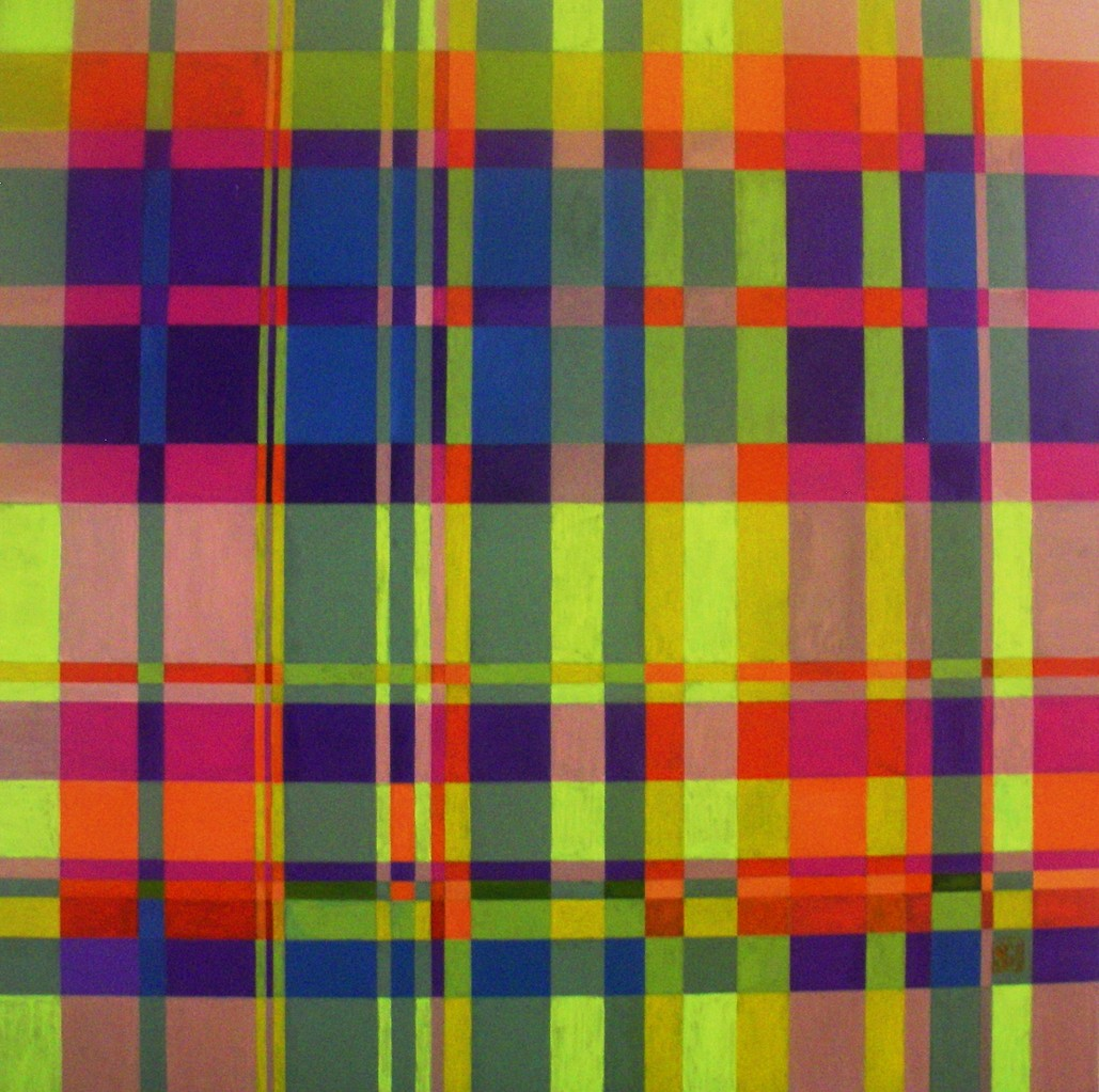 Unfinished.... (Plaid II) oil on canvas 36x36, November 2013
