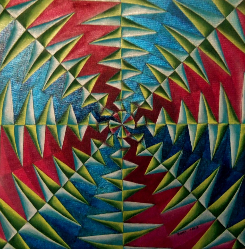 """Creation"", oil on canvas 12x12, 11/2012 (inspired by Rosie Gartner)"