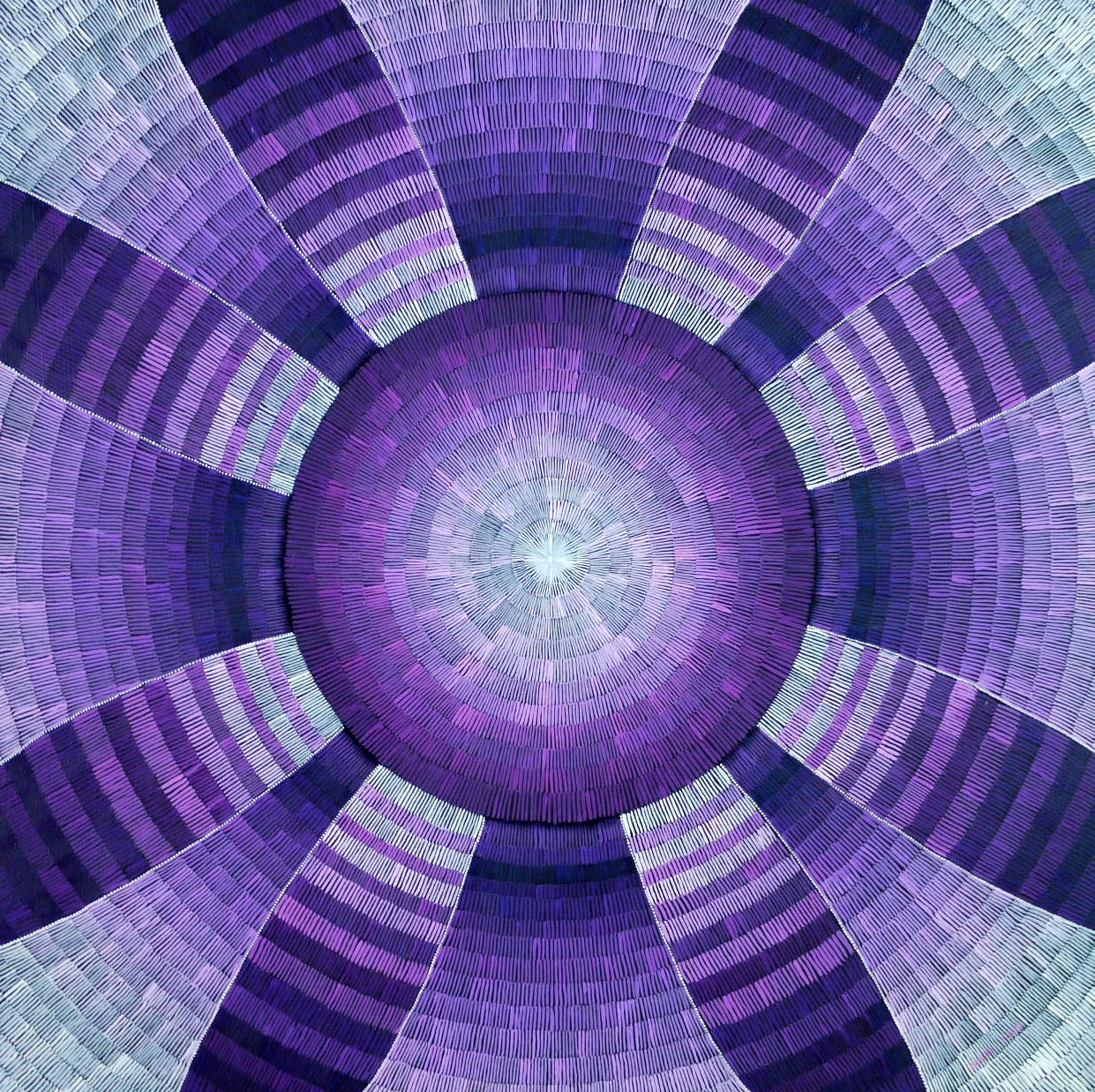 #471 - Chakra Mandala (Fibrous Series) oil on canvas 20x20, 7/18 (2-3)