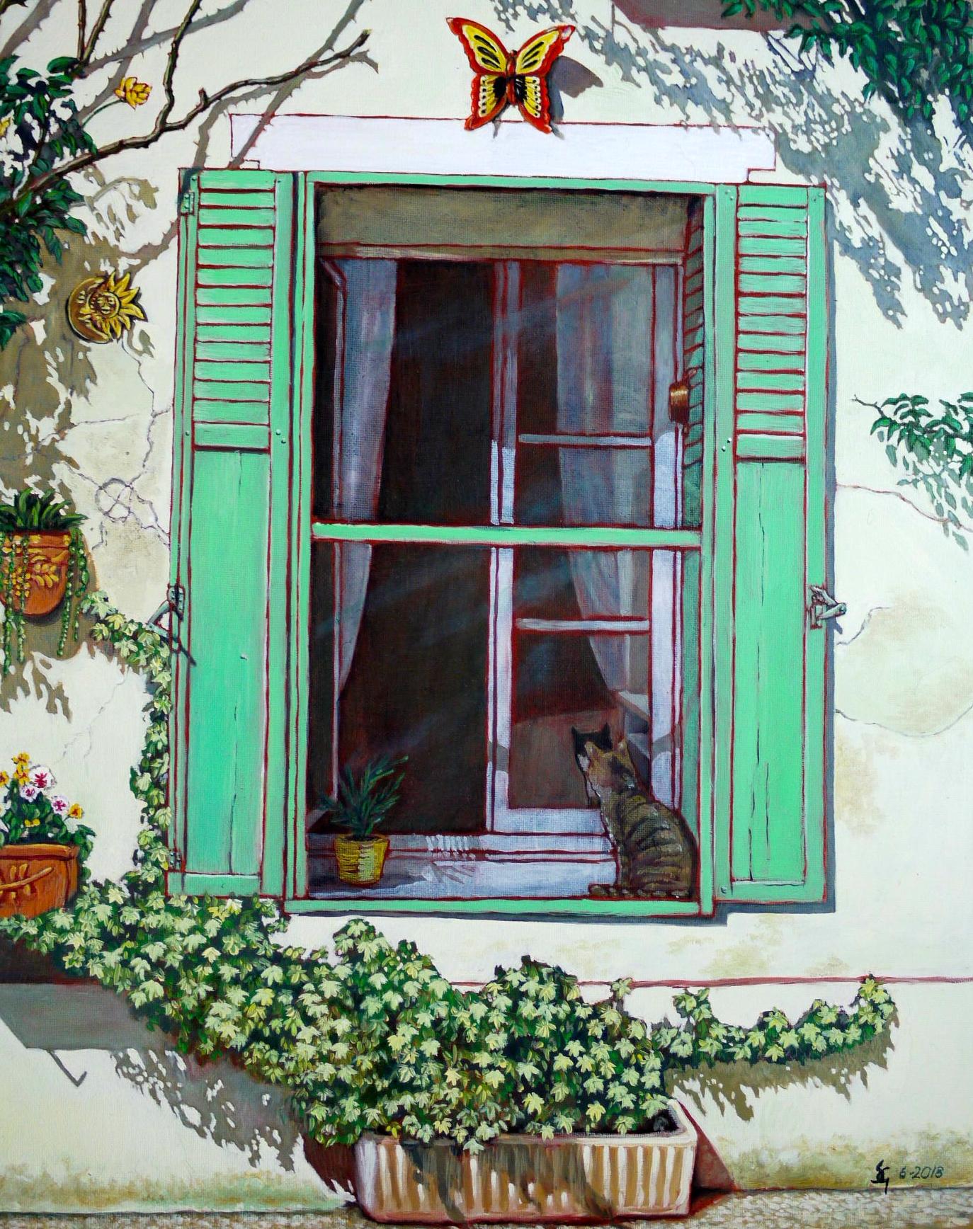 #468 - Doors of Europe Series VII, oil on canvas 16x20, 6/18 (4)