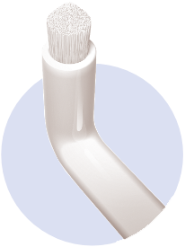 Mit Swing-Bürste werden die Zähne blitzeblank ©SOLO-MED GmbH