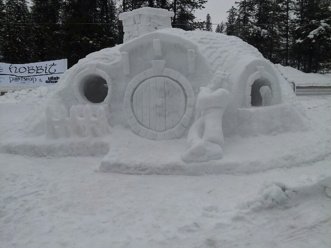 Hobbit hole made of ice.