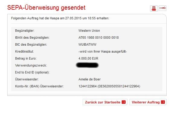 Die weiteren 4.000 Euro, die wir gesammelt haben, sind nun überwiesen, somit sind insgesamt 5.000 Euro Spendengelder zusammengekommen!