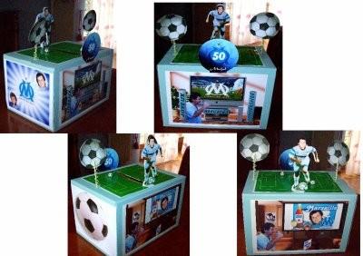 Urne en carton pour fan de foot
