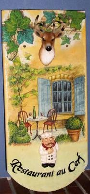 "tuile collage serviette "" Restaurant au Cerf """