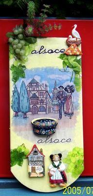 Tuile d Alsace collage serviette