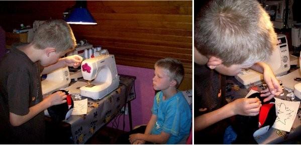Réalisation d un doudou en tissu par un garçon