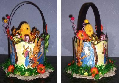 Panier de Pâques en carton