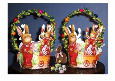 Panier de Pâques pour ramasser les oeufs