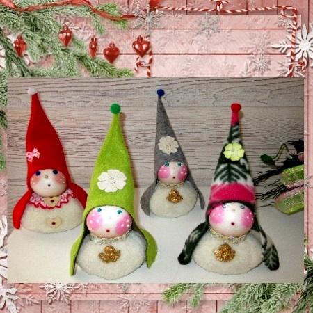 Petits Gnomes en tissu