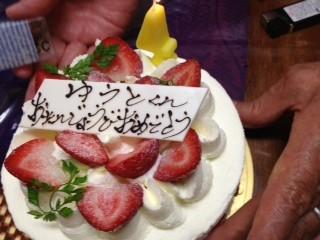 open前日に生まれてきた息子のバースデイケーキです