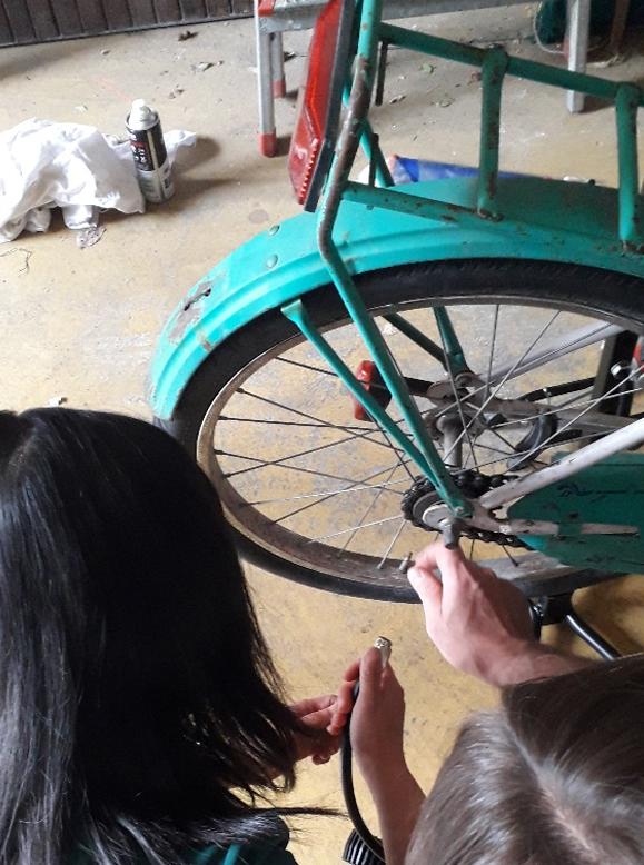 Lancement d'un atelier vélos participatif
