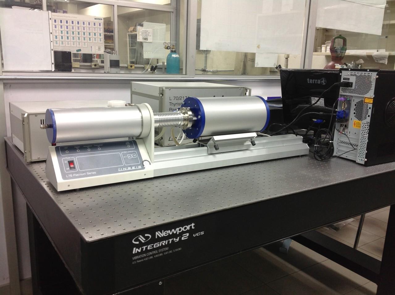Dilatometer Linseis 1500°C. Laboratory FIME UANL