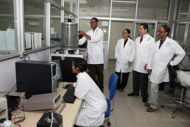 Test of chemical deposition. Laboratory FIME UANL