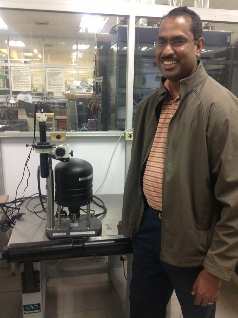 Prof. S. Shaji and Photoconductive AFM. Laboratory FIME UANL