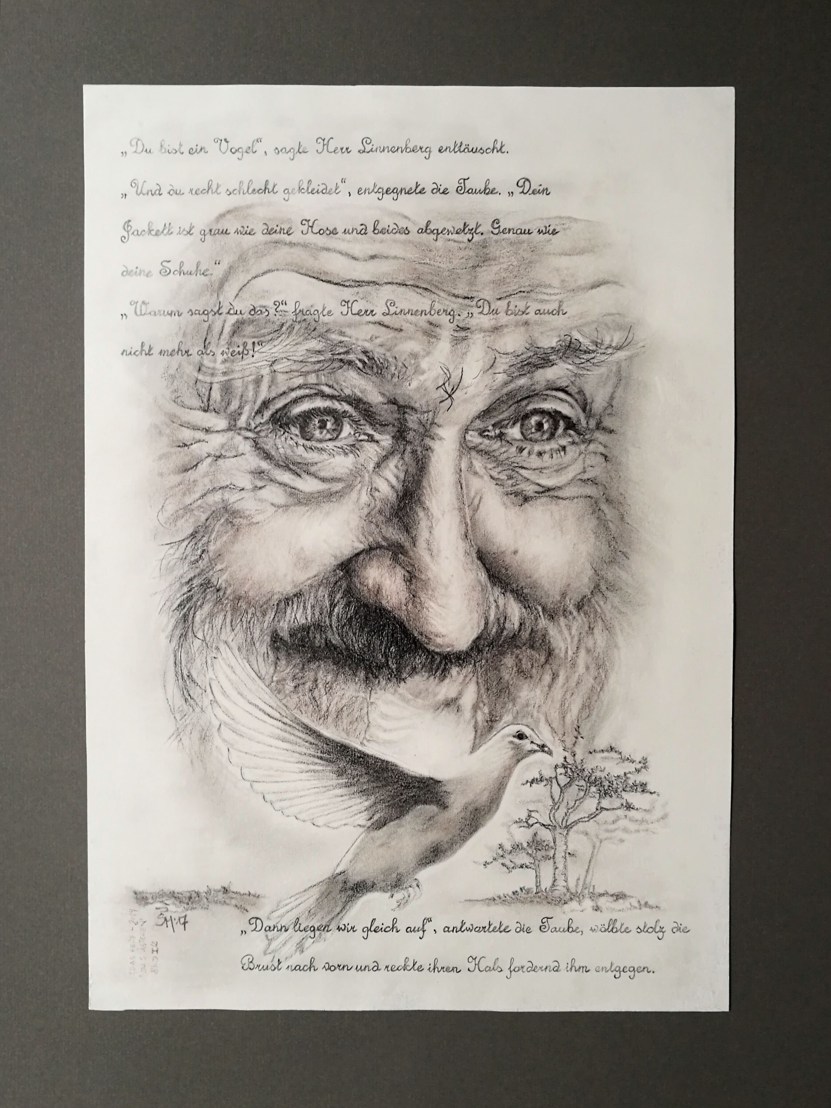 """Illustration zu """"Das Ästchen"""", aus dem Band """"Das Herz"""", 2014"""